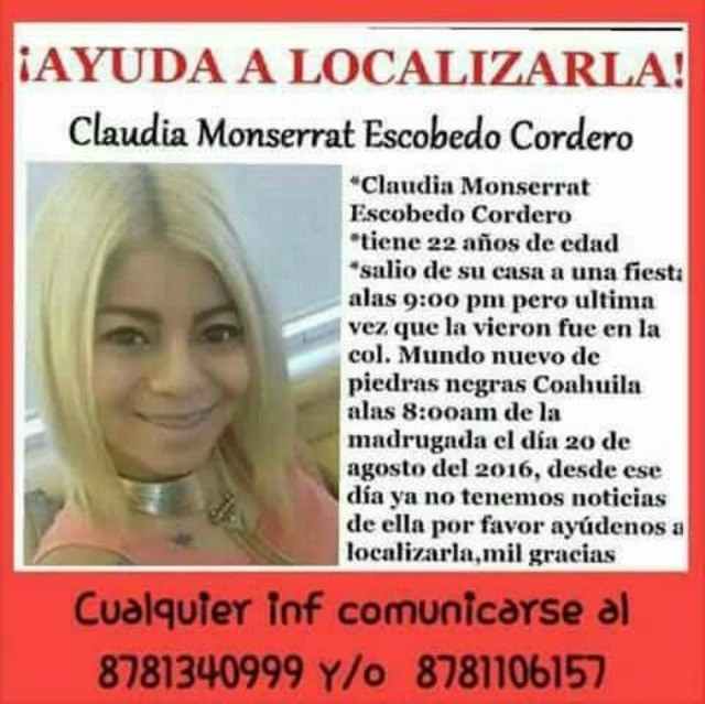 Coahuila Missing Woman 1