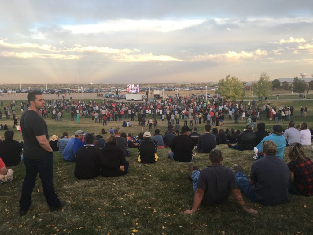 Colorado Trump Rally Exterior