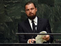 Leonardo DiCaprio, actor and UN Messenger of Peace speaks during the opening session of the Climate Change Summit at the United Nations in New York September 23, 2014, in New York. (TIMOTHY A. CLARY/AFP/Getty Images)