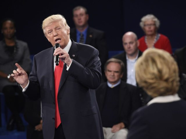 Donald Trump second debate (Saul Loeb / Associated Press)