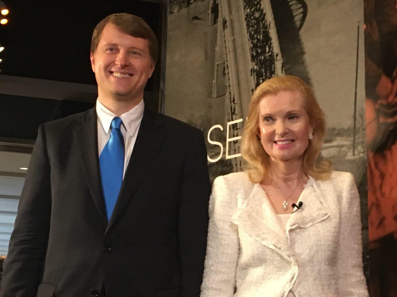 Edward Cox and Trisha Nixon (Adelle Nazarian / Breitbart News)