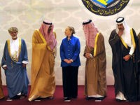 From left to right: United Arab Emirates' Foreign Minister Abdallah bin Zayed al-Nahyan, Omani Minister of Foreign Affairs Yussef bin Alawi bin Abdullah, Kuwaiti Foreign Minister Sheikh Sabah Khaled al-Hamad Al-Sabah, US Secretary of State Hillary Rodham Clinton, Saudi Foreign Minister Prince Saud Al-Faisal, Qatar's Prime Minister and Foreign Minister …
