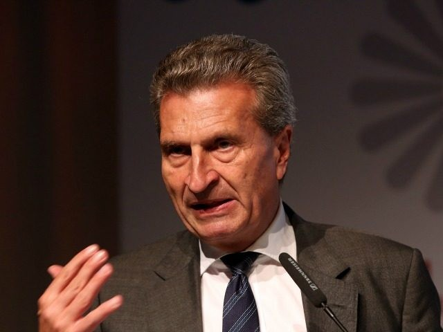 EU Commissioner Guenther Oettinger