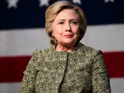Democratic presidential candidate Hillary Clinton talks during a conversation on gun violence at the Landmark Theater on April 11, 2016 in Port Washington, New York
