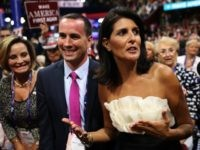 South Carolina Gov. Nikki Haley poses attends the third day of the Republican National Convention on July 20, 2016 at the Quicken Loans Arena in Cleveland, Ohio.