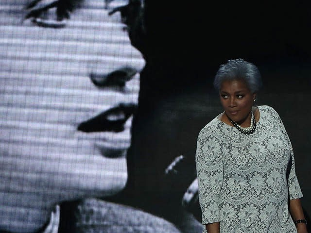 PHILADELPHIA, PA - JULY 26: Interim chair of the Democratic National Committee, Donna Brazile walks on stage to deliver remarks the second day of the Democratic National Convention at the Wells Fargo Center, July 26, 2016 in Philadelphia, Pennsylvania. Democratic presidential candidate Hillary Clinton received the number of votes needed to secure the party's nomination. An estimated 50,000 people are expected in Philadelphia, including hundreds of protesters and members of the media. The four-day Democratic National Convention kicked off July 25. (Photo by Alex Wong/Getty Images)