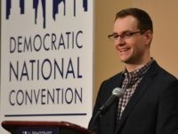 Robby Mook Campaign Manager for Hilary for America speaks at a press conference in the convention centre on July 25, 2016 in Philadelphia, Pennsylvania.
