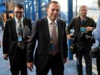 Former Prime Minister of Australia, Tony Abbott on October 4, 2016 in Birmingham, England.