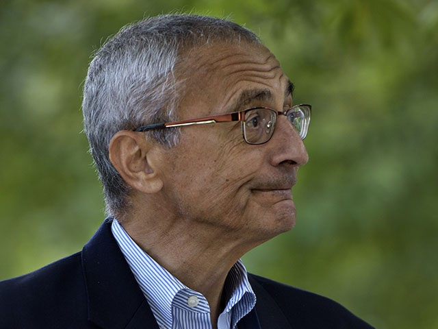 John Podesta, Clinton Campaign Chairman, walks to Democratic presidential nominee Hillary Clinton's Washington DC home October 5, 2016 in Washington, District of Columbia. / AFP / Brendan Smialowski (Photo credit should read BRENDAN SMIALOWSKI/AFP/Getty Images)