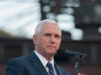 Republican candidate for Vice President Mike Pence speaks to close to 250 supporters at a rally at JWF Industries in Johnstown, Pennsylvania on October 6, 2016. Johnstown, Pennsylvania