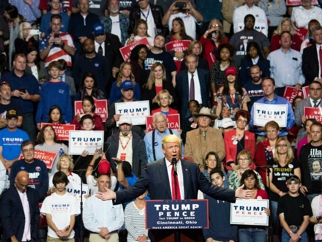 donald trump tells a crowd of young ohio voters his program to revive the economy would solve the college debt program to free them to live normal lives and