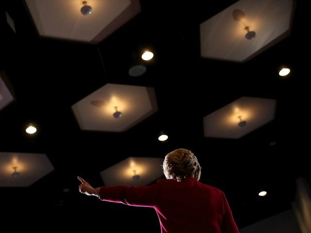 COCONUT CREEK, FL - OCTOBER 25: Democratic presidential nominee former Secretary of State Hillary Clinton speaks during a campaign rally at Broward College on October 25, 2016 in Coconut Creek, Florida. With two weeks to go until election day, Hillary Clinton is campaigning in Florida. (Photo by
