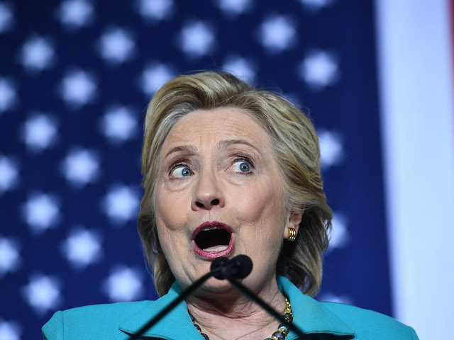 US Democratic presidential nominee Hillary Clinton speaks during a campaign rally at the Dickerson Community Center in Daytona, Florida, on October 29, 2016. Clinton embarks this weekend on the frenetic final 10 days of her White House campaign, determined to shake off renewed controversy over the FBI probe into her …