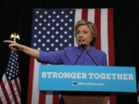 Democratic presidential nominee former Secretary of State Hillary Clinton speaks during a campaign event at The Manor Complex on October 30, 2016 in Wilton Manors, Florida.