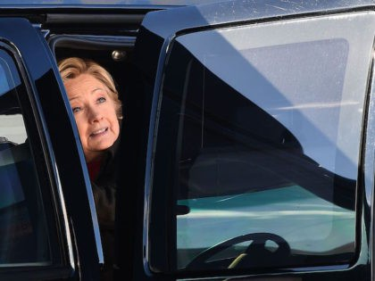 US Democratic presidential nominee Hillary Clinton arrives to board her campaign plane at the Westchester County Airport in White Plains, New York, on October 31, 2016. Clinton's campaign was jolted when FBI boss James Comey announced October 28 that his agents are reviewing a newly discovered trove of emails, resurrecting …