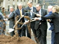 Goldman-Sachs-Groundbreaking-with-Hillary-Richard-DrewAP-640x480