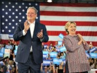 MIAMI, FL - OCTOBER 11:  Democratic presidential nominee former Secretary of State Hillary Clinton and former Vice President Al Gore campaign together at the Miami Dade College - Kendall Campus, Theodore Gibson Center on October 11, 2016 in Miami, Florida.Clinton continues to campaign against her Republican opponent Donald Trump with less than one month to go before Election Day.  (Photo by Joe Raedle/Getty Images)