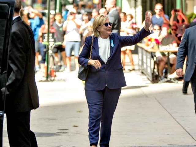 Hillary Waves After Collapse AP