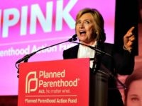 Democratic presidential candidate Hillary Clinton addresses an audience during an event Sunday, Jan. 10, 2016, in Hooksett, N.H., during which Planned Parenthood endorsed Clinton in the presidential race. The endorsement by the group's political arm marks Planned Parenthood's first time wading into a presidential primary. (