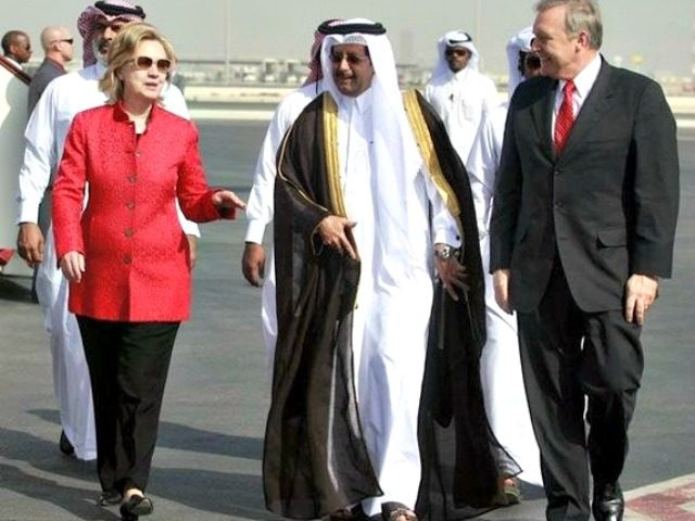 Hillary in Qatar Maneesh BakshiAP
