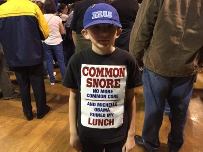Common Core protester (Joel Pollak / Breitbart News)