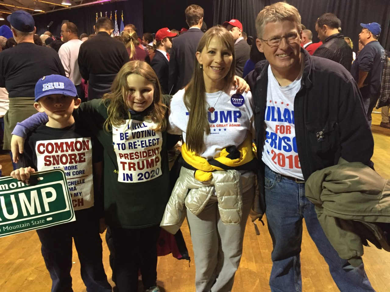 Crane family at Trump rally in NH (Joel Pollak / Breitbart News)