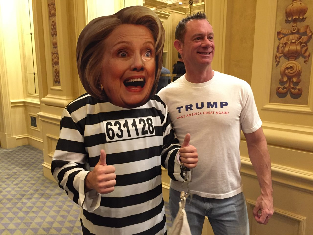 Clinton Convict at Trump Vegas Rally (Joel Pollak / Breitbart News)