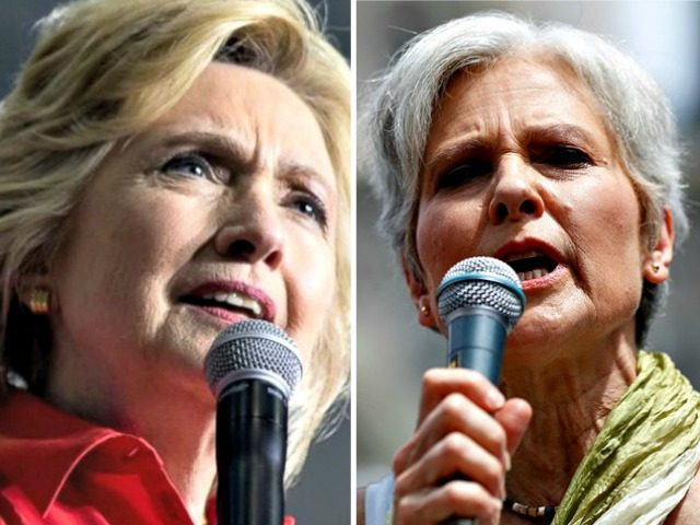 Jill Stein vs Hillary AP Photos