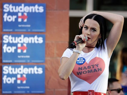 Katy Perry Stumps for Hillary Clinton in 'Nasty Woman' T-Shirt