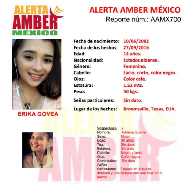 Mexican amber alert