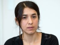 Yezidi's Nadia Murad gives an Interview in Stuttgart, southern Germany on September 12, 2016. Murad was taken from her home village of Kocho near Iraq's northern town of Sinjar in August 2014 and brought to IS-controlled Mosul, where she endured months of sexual abuse by Islamic State militants before escaping. …