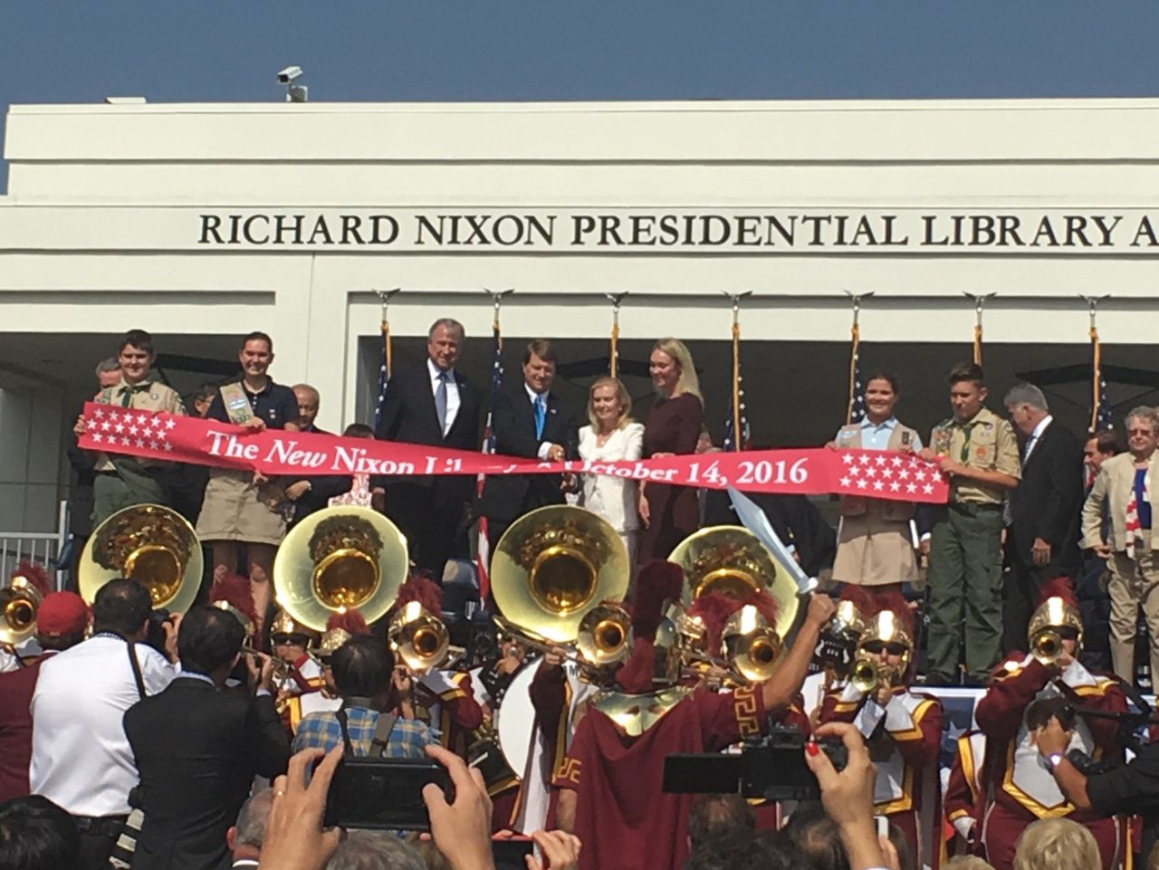 Nixon library re-opening (Adelle Nazarian / Breitbart News)