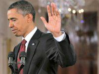 Obama Waves Away