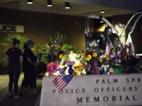 Palm Springs officers memorial (Rodrigo Peña / Associated Press)
