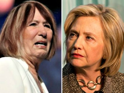 Pat Smith and Hillary Clinton
