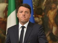 Italian Prime Minister Matteo Renzi gives a press conference focused on the shipwreck of migrants last night off the Libyan coast, on April 19, 2015 in Rome. Prime Minister Matteo Renzi said Rome would be seeking the extraordinary meeting after up to 700 people were feared to have drowned when …