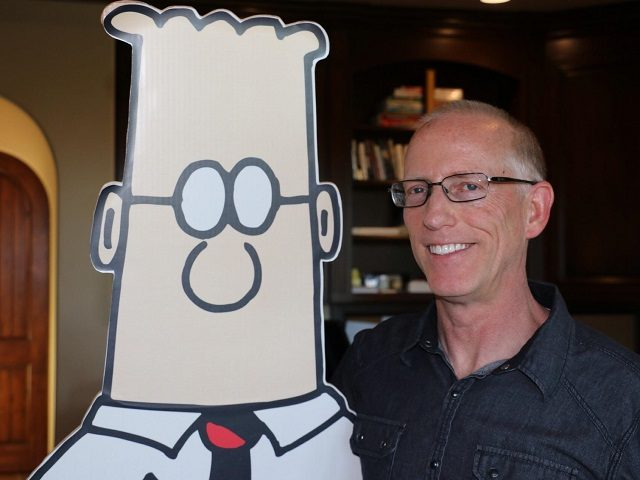 Scott Adams with Dilbert