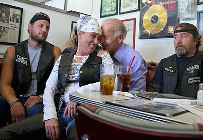 Biden Grope Biker (Associated Press)
