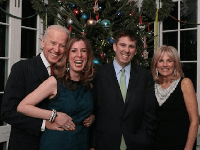 Biden Grope Christmas (Facebook / Amie Parnes)