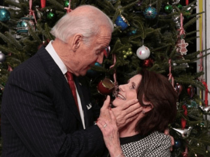 Biden Grope Christmas II (Mike Memoli / Facebook)