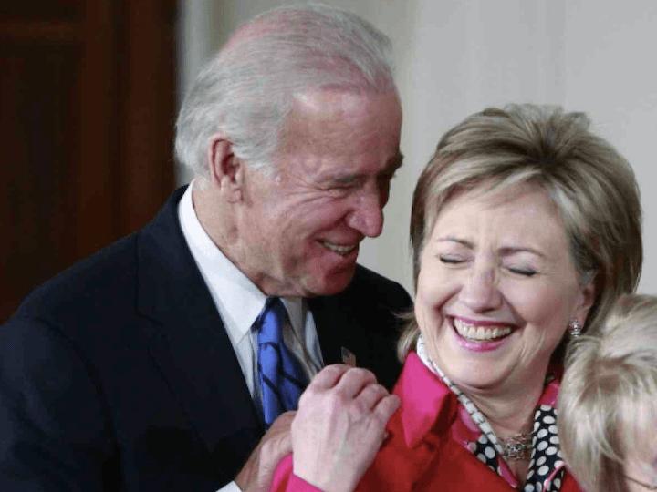 Biden Grope Hillary (Jason Reed / Reuters)