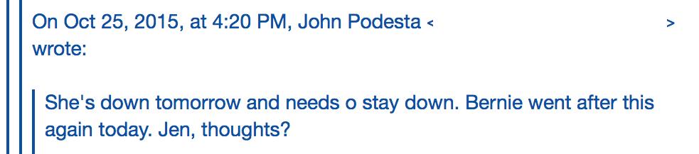 podesta email