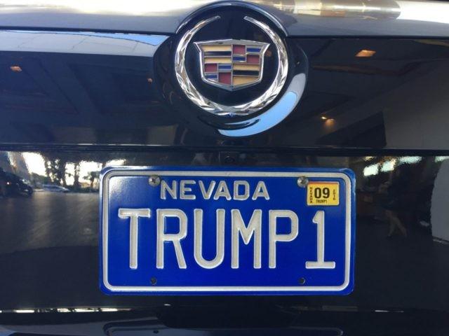Trump Las Vegas license plate (Joel Pollak / Breitbart News)