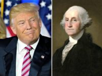 Trump Smiles at G. Washington