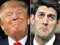 Trump Smirks, Ryan Pouts