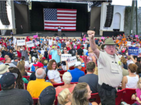 Trump St. Augustine Getty Crowd Boos Media