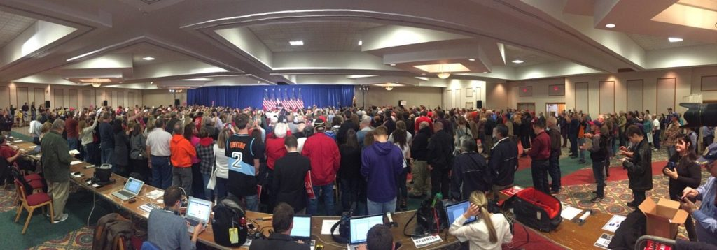 Wideshot Pence rally