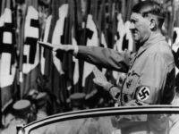 German dictator Adolf Hitler saluting at the giant Nazi parade at Nuremberg. Original Publication: People Disc - HE0244 (Photo by Topical Press Agency/Getty Images)
