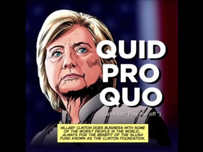 Exclusive: Animated 'Clinton Cash: A Graphic Novel' Ad Highlights Clinton Foundation Pay-to-Play Schemes