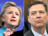 Hillary Clinton and James Comey. (Reuters and AFP/Getty Images)